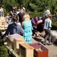 Naturværksted i Helle og Kajs Have i Nellemose på Fyn, 31. maj 2014