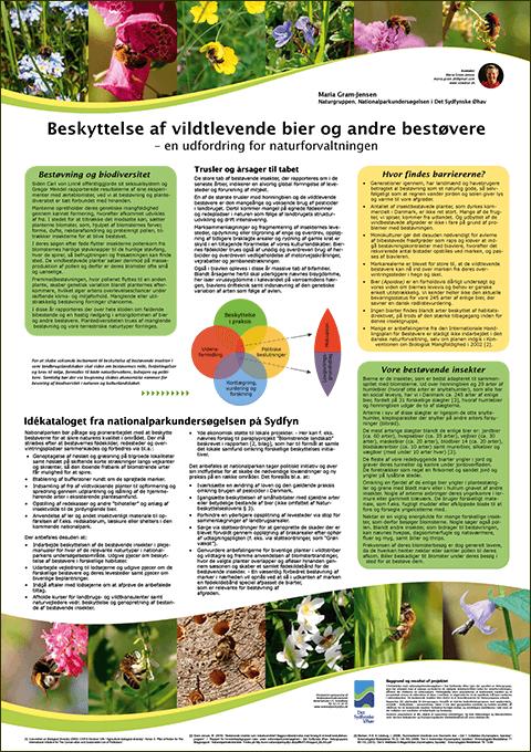 Beskyttelse af vildtlevende bier og andre bestøvere - poster fra Biodiversitetssymposium i 2011