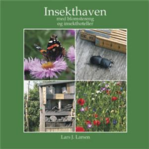 Insekthaven med blomstereng og insekthoteller